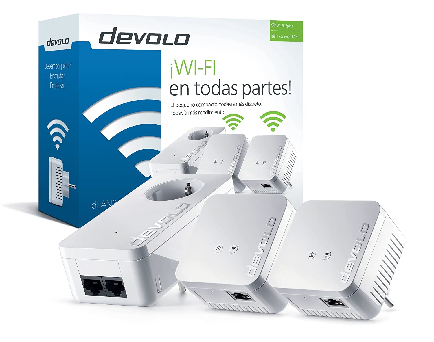 Devolo dLAN WiFi Network Kit PLC Adaptadores de red Powerline Mbps x