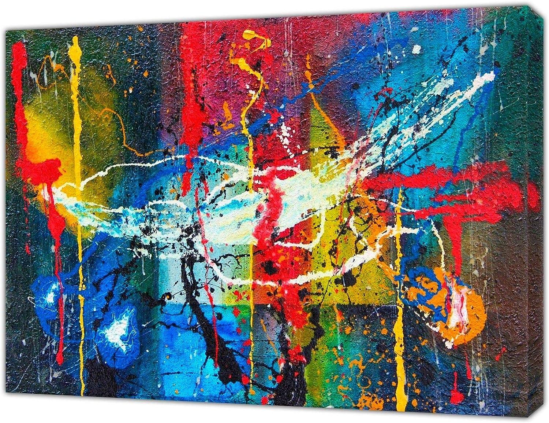 Pintura al óleo abstracta de Jackson Pollock, reimpresión sobre lienzo enmarcado para pared, 40'' x 30'' inch(102x 76 cm)-38mm depth