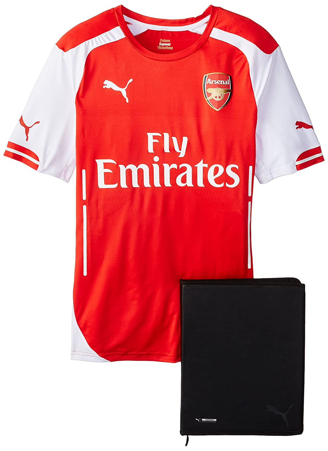 PumaメンズAFC Authentic Home Shirt with Packaging B00H97RWH6ハイリスクレッド/ホワイト (High Risk Red/White) XL