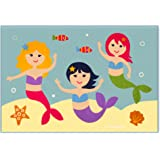 Amazon Com Olive Kids Mermaids Peel And Stick Wall Decal