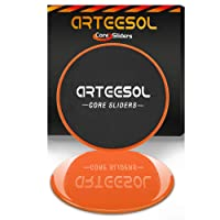 Arteesol Core Sliders 1 Paire Disques Glisseur à Doubles Faces pour Exercices Abdominaux Fitness Gym