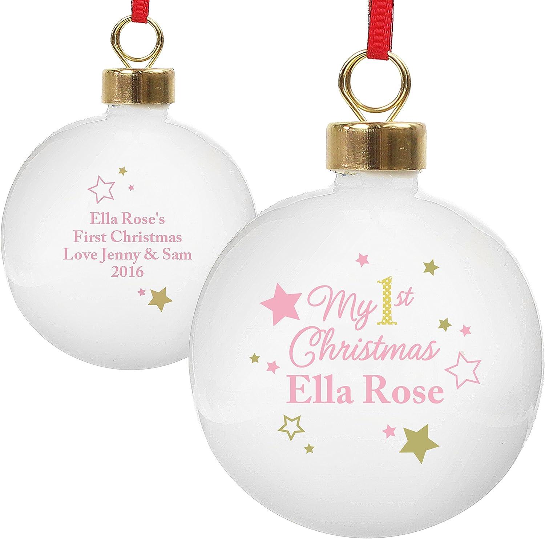 Boule de noël bébé /'s first christmas rose