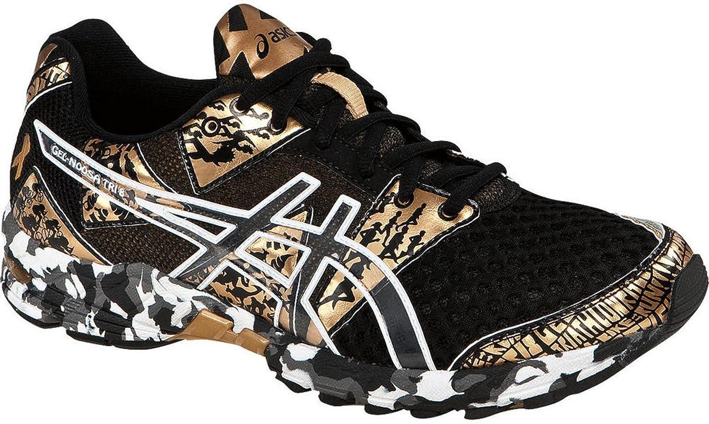 ASICS Gel-Noosa Tri 8 - Zapatillas de Running para Mujer, (Dorado/Negro/Blanco), 37.5 EU: Amazon.es: Zapatos y complementos