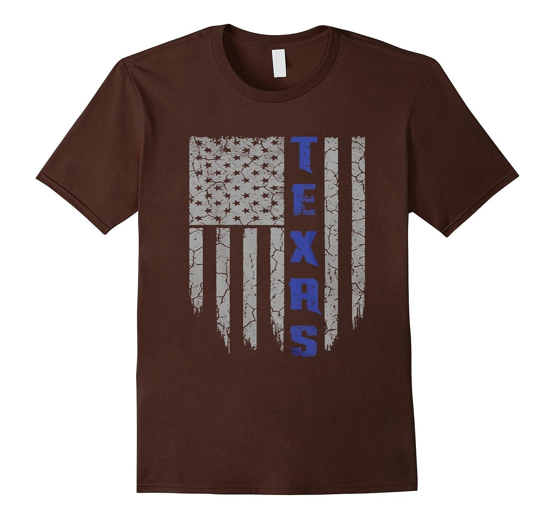 Thin blue line texas shirt goatstee for Texas thin blue line shirt