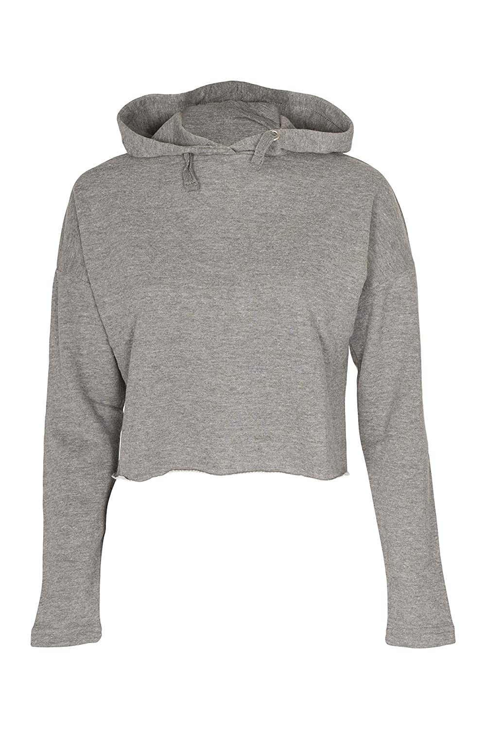 4b9e03e8b6a Amazon.com  Girls Plain Crop Top Ripped Hoodie  Clothing