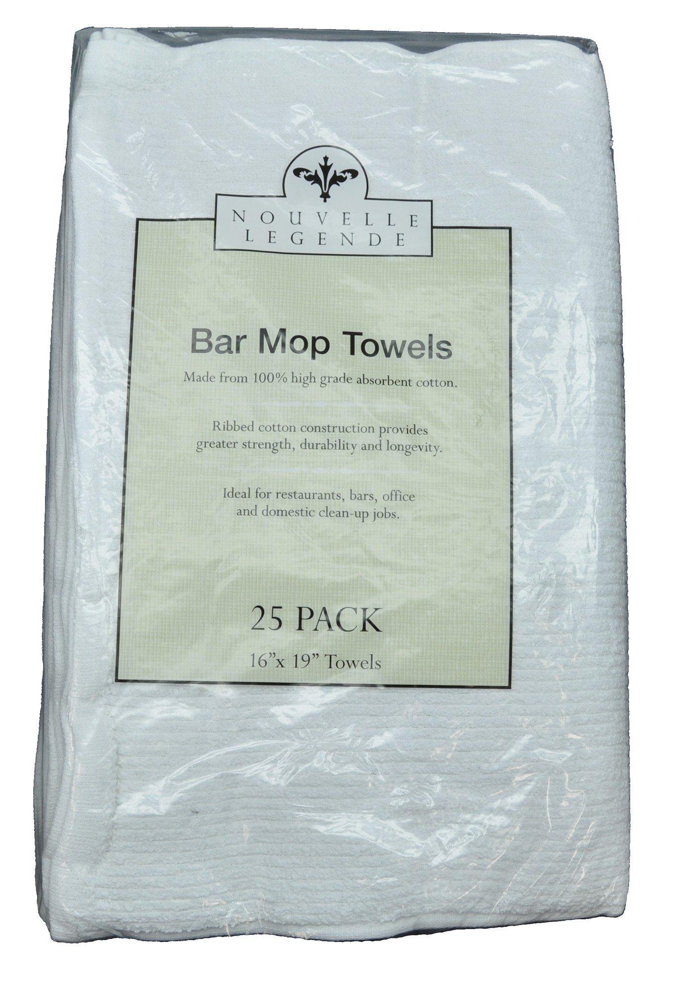 Nouvelle Legende Cotton Bar Mop Ribbed Towels Commercial Grade (25-Pack) by Nouvelle Legende (Image #4)