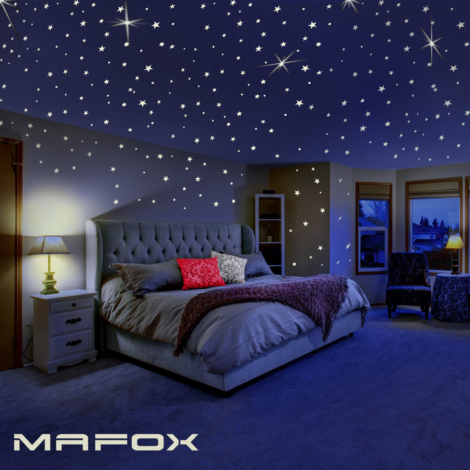 MAFOX Glow In The Dark Stars For Ceiling Or Wall Stickers