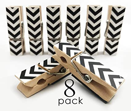 Charmant Loddie Doddie 8 Count Clothes Pin Magnets | Chevron  Black. Perfect For Office  Decor
