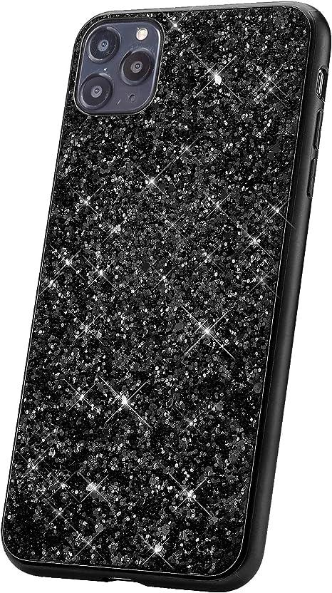 JAWSEU Funda Brillante Compatible con Huawei Honor 10 Brillo Glitter Cristal Ultra Delgada Duro PC Suave Silicona TPU Gel Goma Bumper Funda con Dise/ño Anti-Rasgu/ño Protectora Cubierta Case,Amor Negro
