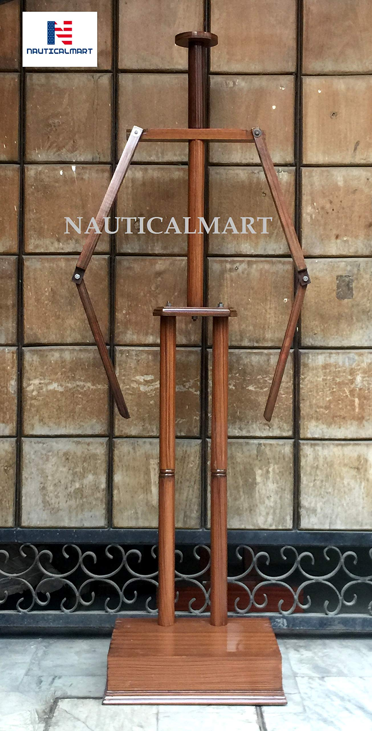 Nautical-Mart Medieval Full Suit of Armor Wooden Display Stand (Brown)