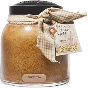 A Cheerful Giver Scented Glass Jar Candle - 34 oz. Sweet Tea Papa Jar Candle with Lid & True to Life Fragrance Made in USA - Keepers of The Light Collection
