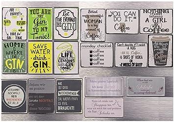 18 Verschiedene Magnete Lustige Spruche Coffee Shoppen Schuhe Gin