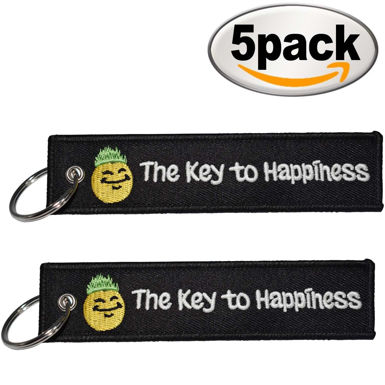 Amazon.com: La clave de la felicidad llavero llaveros ...