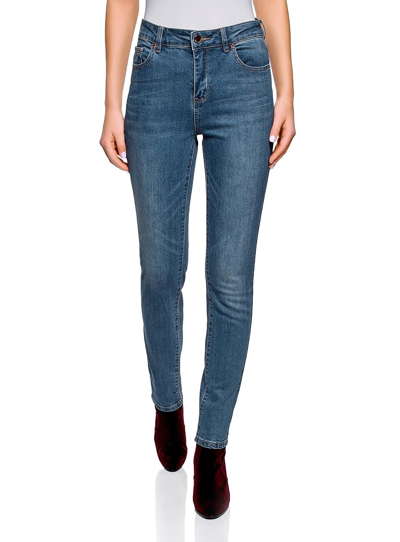 oodji Ultra Donna Jeans Slim Fit a Vita Alta RIFICZECH s.r.o. 12103145-1B