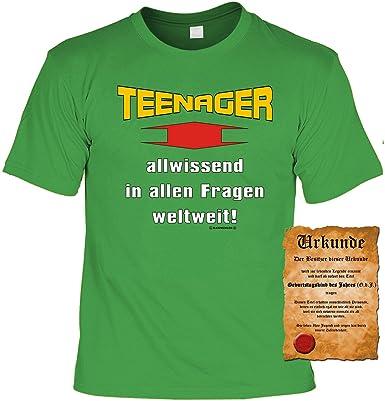 Zum Geburtstag Cooles Jugendliche Sprüche Tshirt Teenager