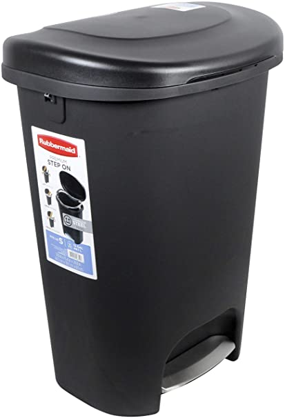 Amazon Com Rubbermaid 2007867 Step On Lid Trash Can For Home