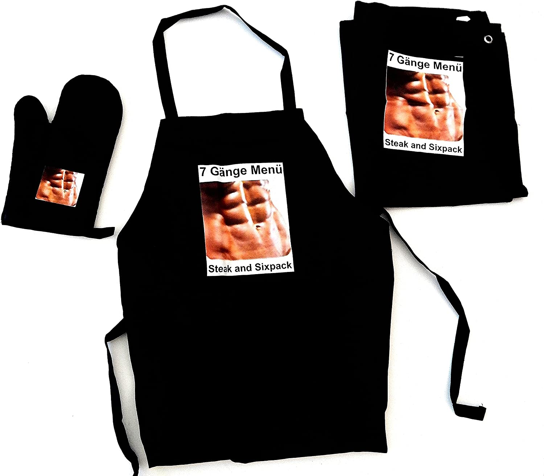 Delantal Design nero pano de cocina guente de cocina (Six Pack ...