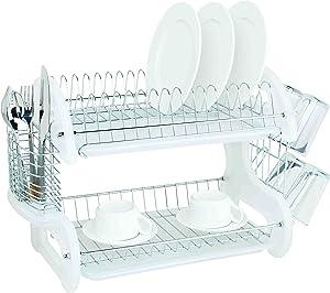 Home Basics DD10246 Dish Drainer, White