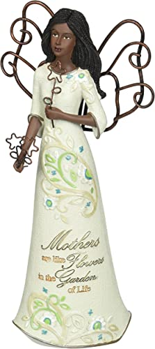 Perfectly Paisley Mother Ethnic Angel Figurine by Pavilion, 7-1 2-Inch Tall, Mothers are Like Flowers in The Garden of Life