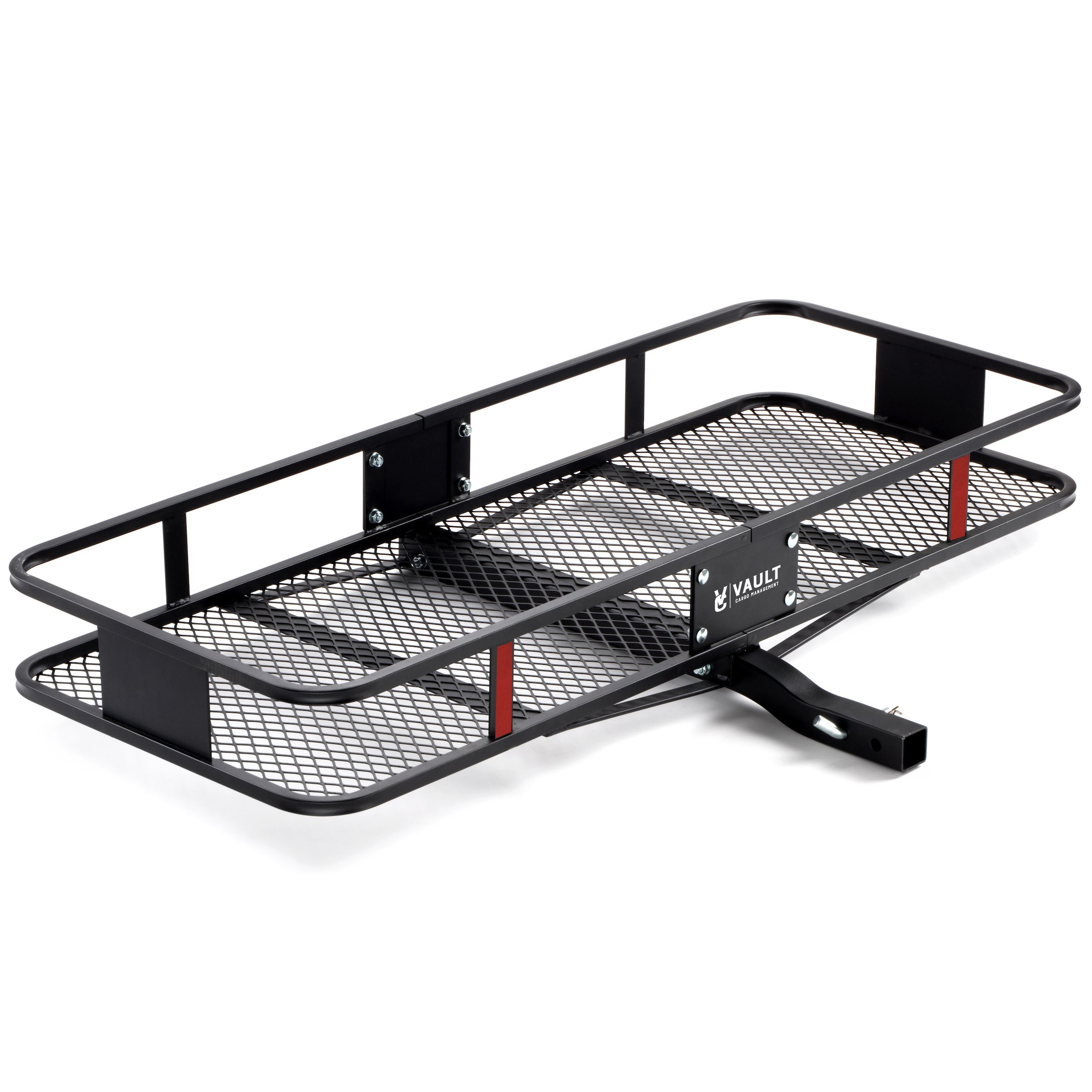 "60"" x 22.5"" Cargo Hitch Carrier by Vault - Haul Your Cooler & Camping Gear with this Rugged Steel Storage Rack & Basket for Your Truck or SUV - Easily Mounts to Trailer Towing Hitches by Vault Cargo Management"
