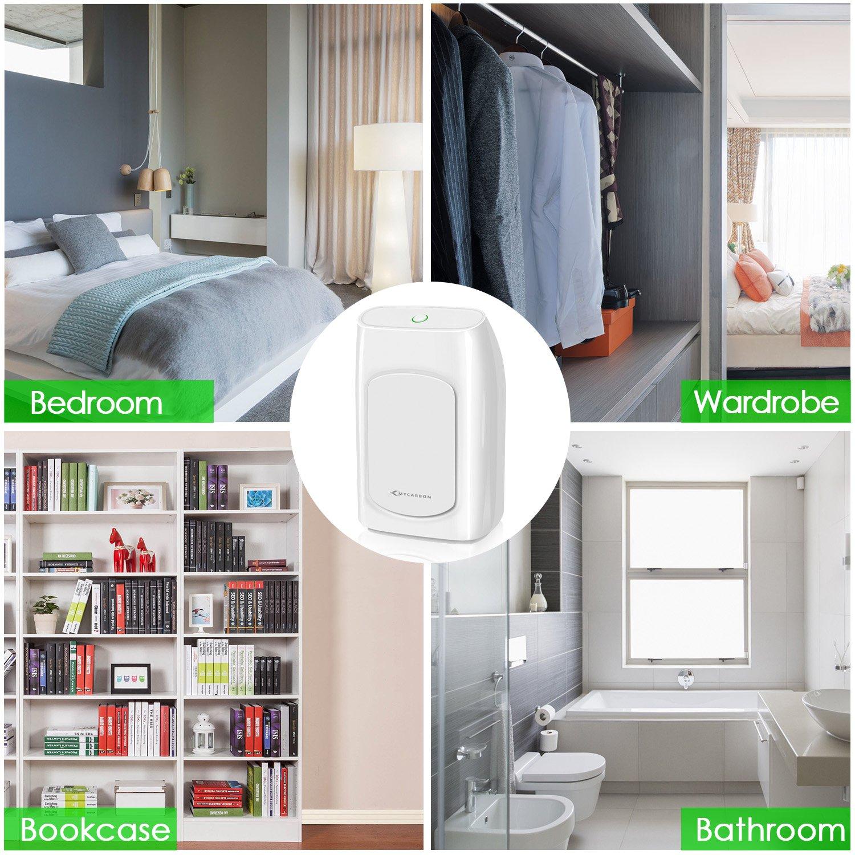 Portable Dehumidifier Energy Efficient Ultra Quiet for Bathroom Bedroom Basements Baby Room RV Mini Dehumidifier 700ml MYCARBON Small Dehumidifier 1200 Cubic Feet 24fl.oz Dehumidifier 215 sq ft