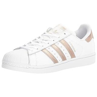 adidas Originals Women's Shoes Superstar Fashion Sneakers, White/Supplier Colour/White, (9 M US)