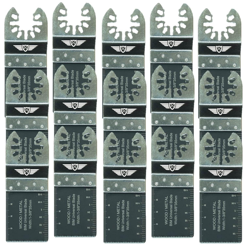 20 x TopsTools 35mm FA35B_20 Fast Fit Metal Cutting Blades for Dewalt Stanley Black and Decker Bosch Fein Multimaster Makita Milwaukee Parkside Ryobi Worx (Fast Change) Multitool Accessories
