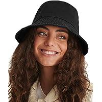 Custom Ribbon Hat Bucket Cap Black Efgaf Men and Women General Caps Cotton Fishermans Hat Stryper