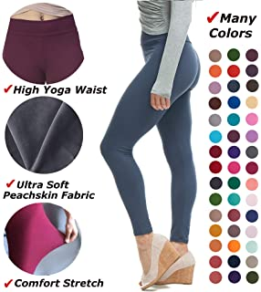 ce70b2e8537 LMB Women s Extra Soft Leggings with High Yoga Waist Pants 40+ Colors Plus  Sizes