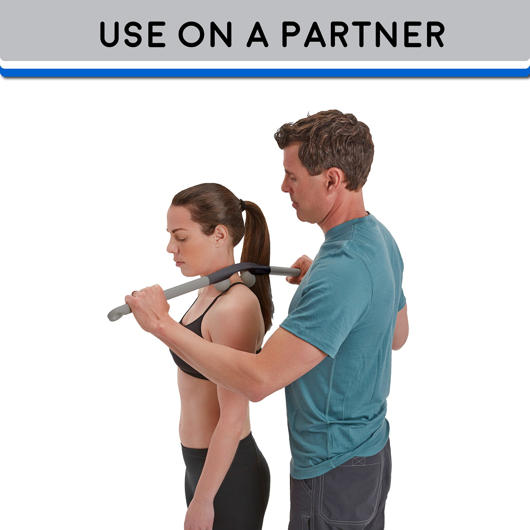 Body Back Company's AccuMassage Trigger Point Therapy Self Massage Tool – Lower Back Massager – Neck Massager – Shoulder Massager - Myofascial Release Tool – Deep Muscle Massage by Body Back (Image #9)