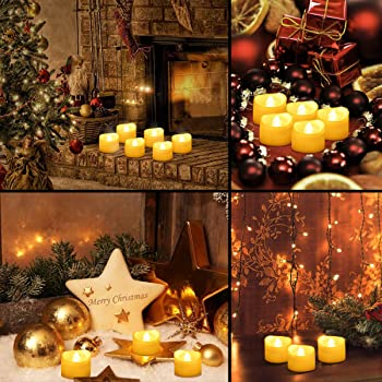 12 Set Oria Flameless Led Lights Battert Operated Candles