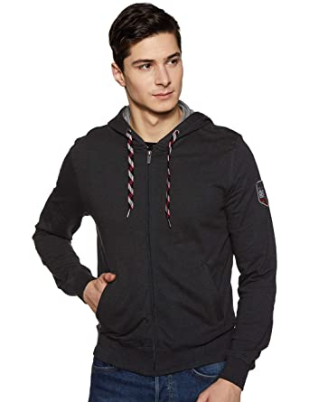 223f52ea3af Jockey Men's Cotton Zip Thru Hoodie (8901326148952_US91_Small_Black Melange)