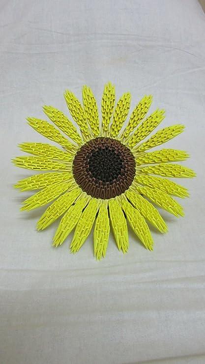 Aniviya Handmade 3d Origami Sunflower Amazon Home Kitchen