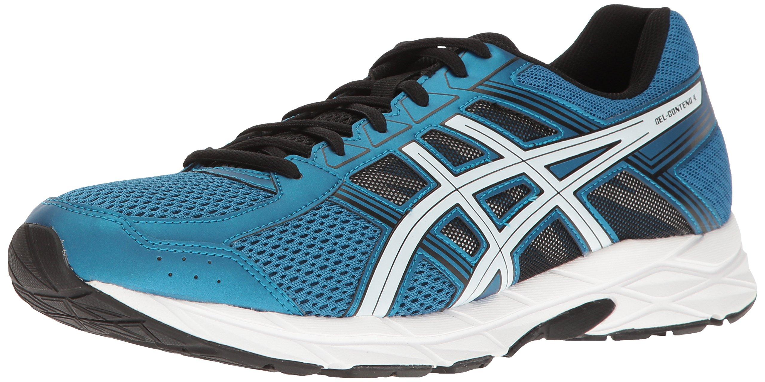 ASICS Men's Gel-Contend 4 Running Shoe, Thunder Blue/White/Black, 8 M US