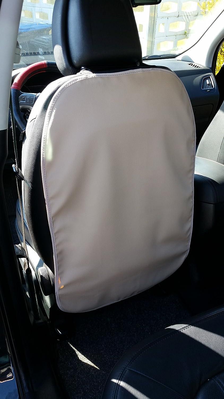avec /élastique de fixation en cuir synth/étique Lot de 2/protections Deluxe pour dossier de si/ège de voiture beige