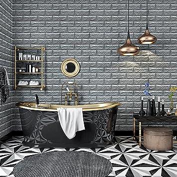 KINLO 1 Stück Fliesensticker Wandfliesen Aufkleber 77x 70 Cm Schneidbar  Fliesen Für Küche Tile Style Tapete