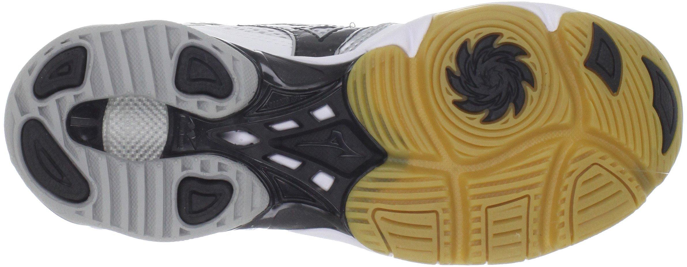 Mizuno Women's Wave Bolt Volleyball Shoe,White/Black,9 M US by Mizuno (Image #3)