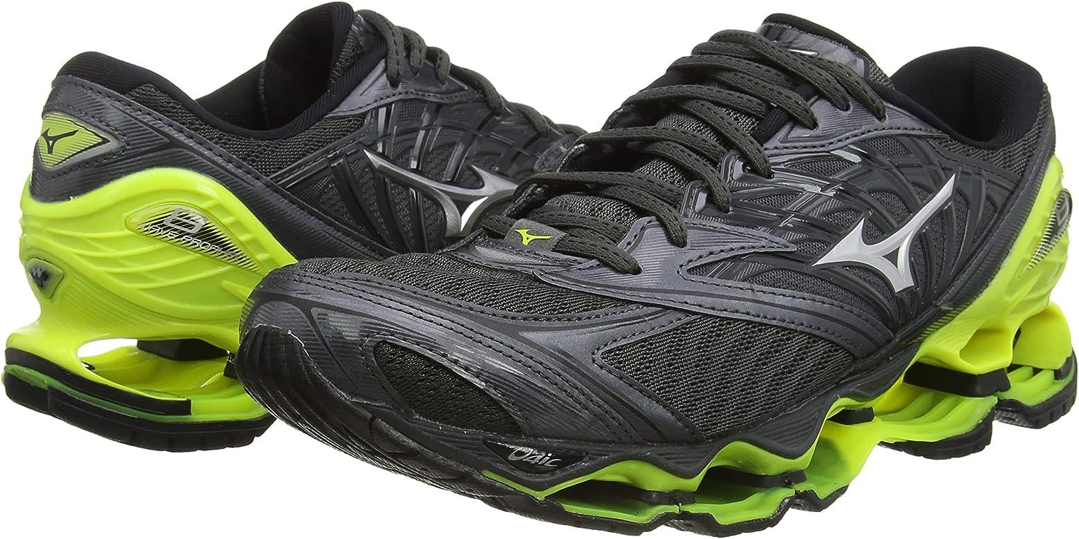 Mizuno Wave Prophecy 8, Zapatillas de Running para Hombre, Gris (DarkShadow/Silver/SafetyYellow 05), 48.5 EU: Amazon.es: Zapatos y complementos