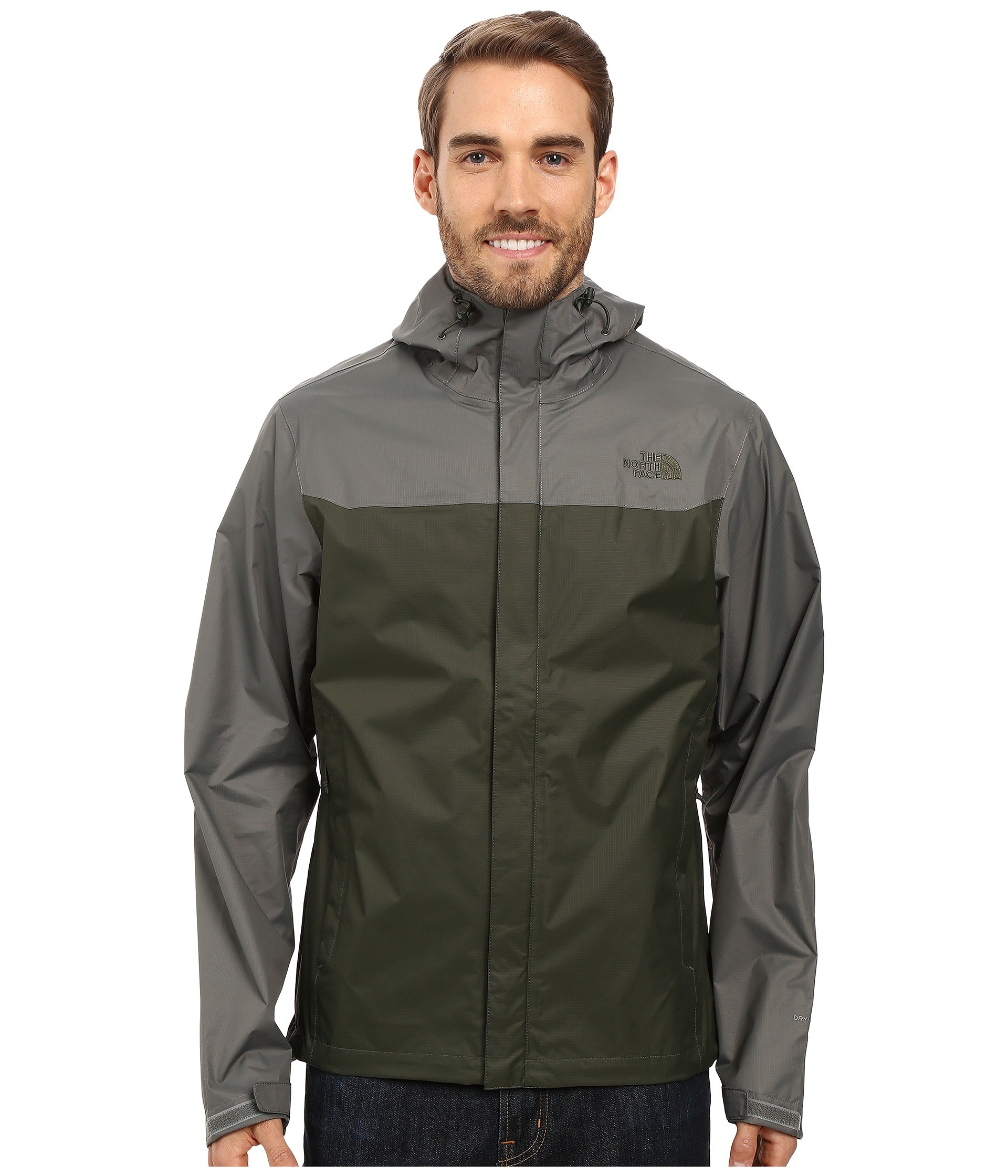 Galleon The North Face Venture Jacket Mens Climbing Ivy Green Fuse Box Fusebox Grey Small