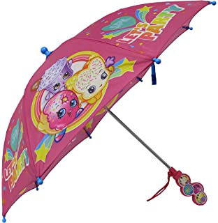 Shopkins Girls SPK Lets Party Pink Umbrella with Clamshell Handle