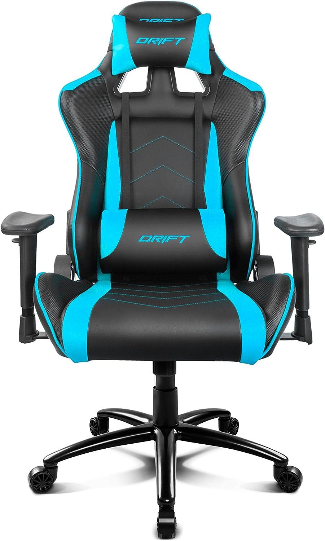 Drift DR150BL - Silla Gaming Profesional, (Poilipiel Alta Calidad, Ergonómica), Color Negro/Azul