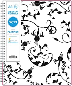 "Blue Sky 2019-2020 Academic Year Weekly & Monthly Planner, Flexible Cover, Twin-Wire Binding, 8.5"" x 11"", Analeis"