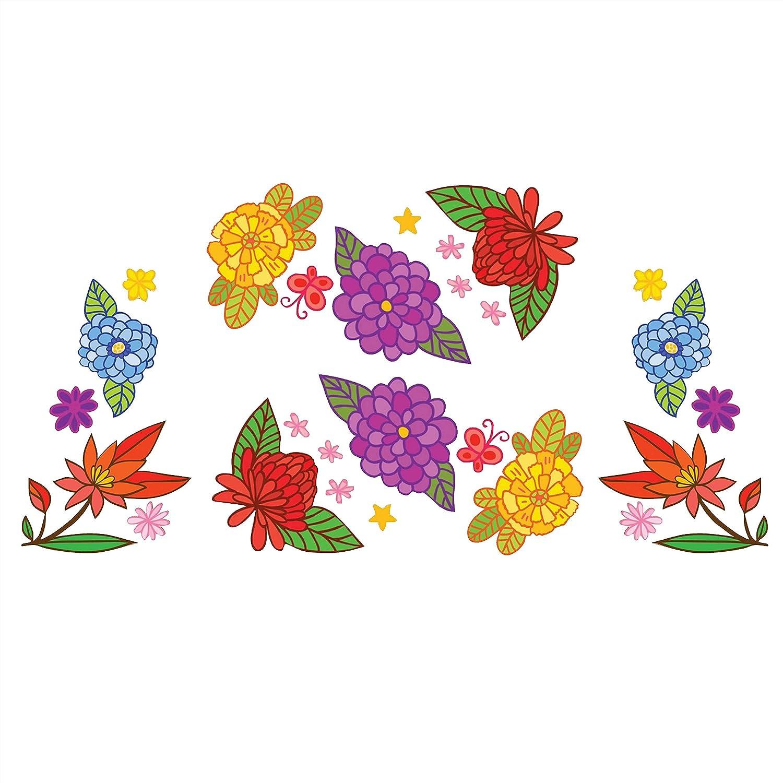 Amazon com flower garden mixer decal set print kitchen dining