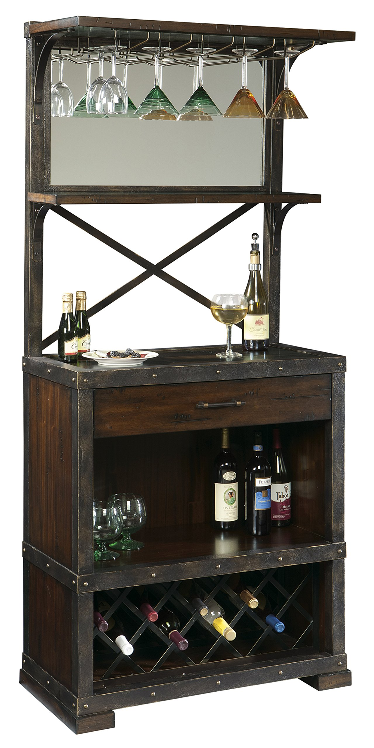 Howard Miller Red Mountain Wine and Bar Storage Cabinet by Howard Miller