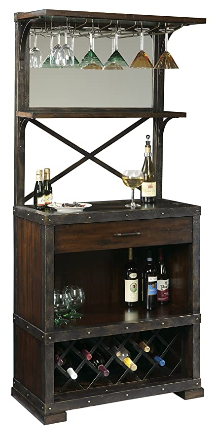 Amazon Com Howard Miller Red Mountain Wine And Bar Storage Cabinet
