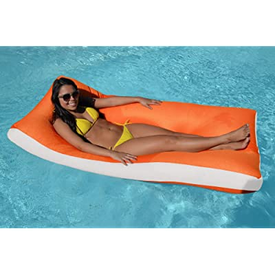 "The Pool Supply Shop 68"" Tango Aqua Cloud- Orange Oversized Floating Mattress: Toys & Games"