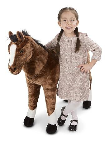 Amazon Com Melissa Doug Giant Horse Lifelike Stuffed Animal