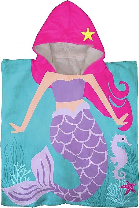 Franco Mermaid Hooded Beach Bath Poncho Towel Jay Franco /& Sons NWT *V