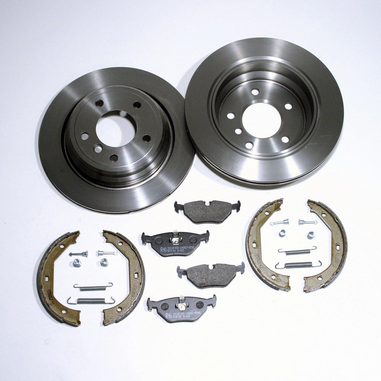 Handbremse Zubeh/ör f/ür hinten//f/ür die Hinterachse Bremsscheiben bel/üftet//Bremsen 294 mm Bremskl/ötze