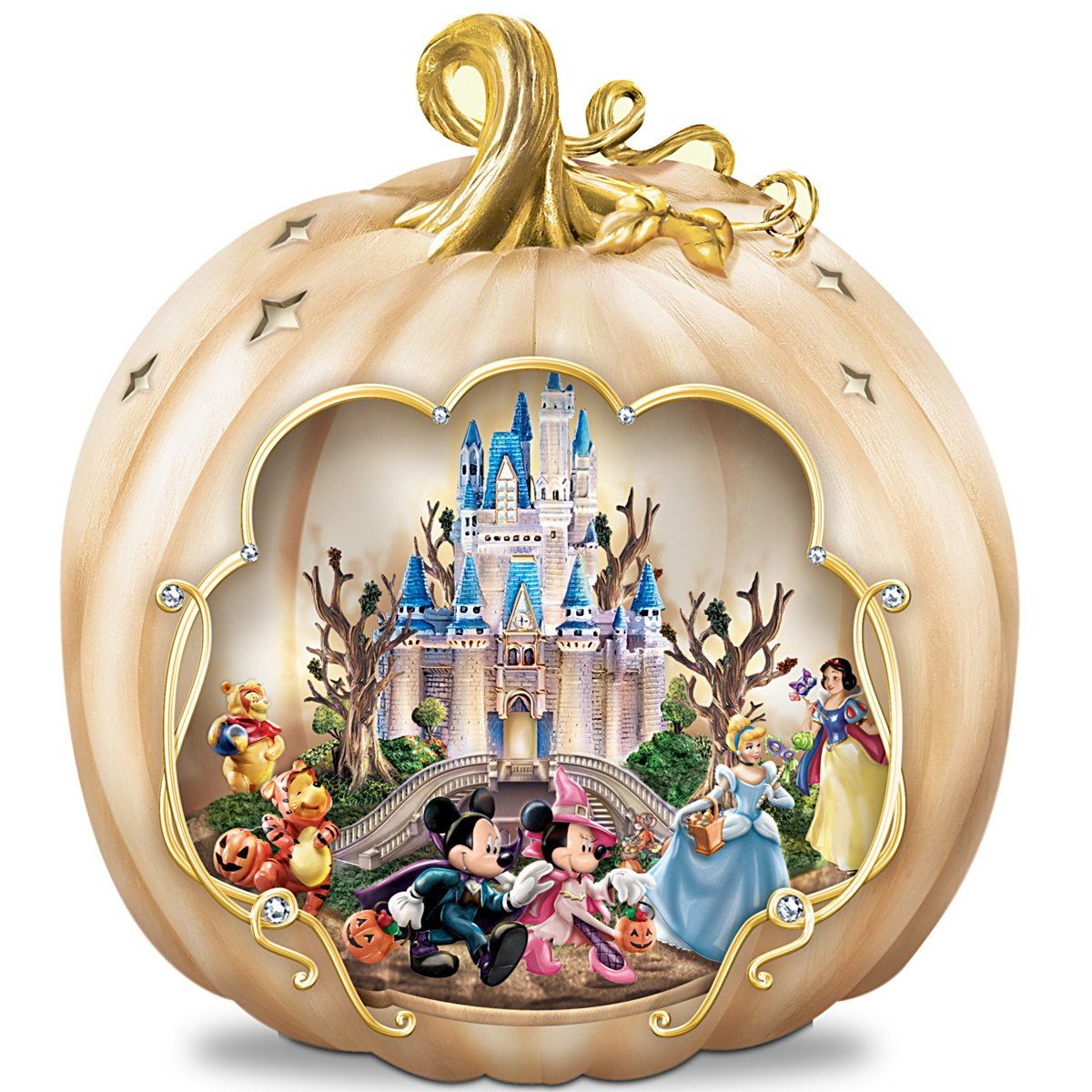 Disney's Spook-tacular: Halloween-Themed Pumpkin Tabletop Centerpiece by The Bradford Exchange by Bradford Exchange